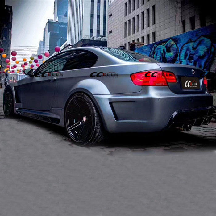 Good fitment V style body kit for BMW 3 series E90 E92 E93 front bumper rear bumper and wider flare for BMW E90 E92 E93