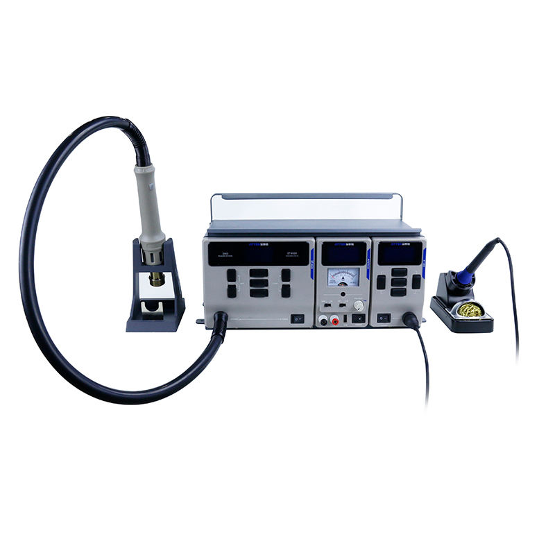 ATTEN MS-300 3 In 1 Rework Soldering Iron Station Hot Air Desoldering Station With Hot Air Gun Stand for Lab