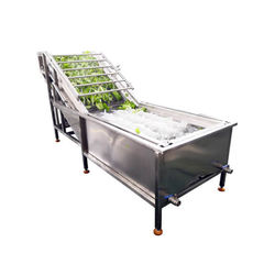 Industrial automatic air bubble vegetable fruit  washing machine for berries leafy vegetable potato washing line