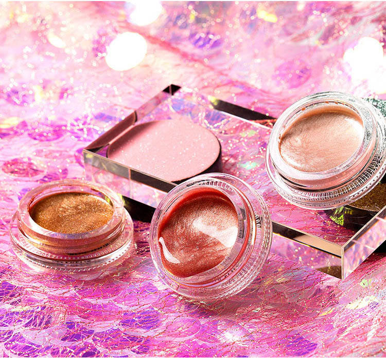 Hot sale single color private label eyeshadow gel beauty glitter shimmer eyeshadow gel waterproof sweat proof long lasting