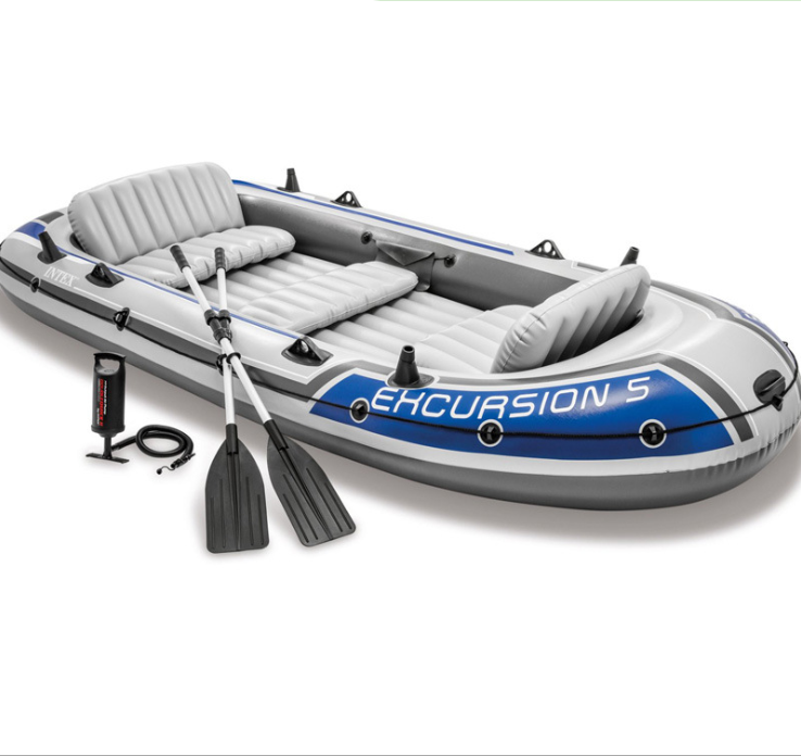 INTEX 68324 EXCURSION 4 BOAT SET rowing boats large inflatable kayak PVC inflatable boat