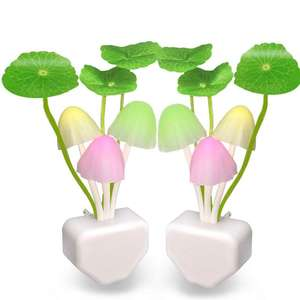 Novelty Mushroom Fungus Night Light Sensor AC110V-220V LED Colorful Mushroom Lamp Led Night Lights baby