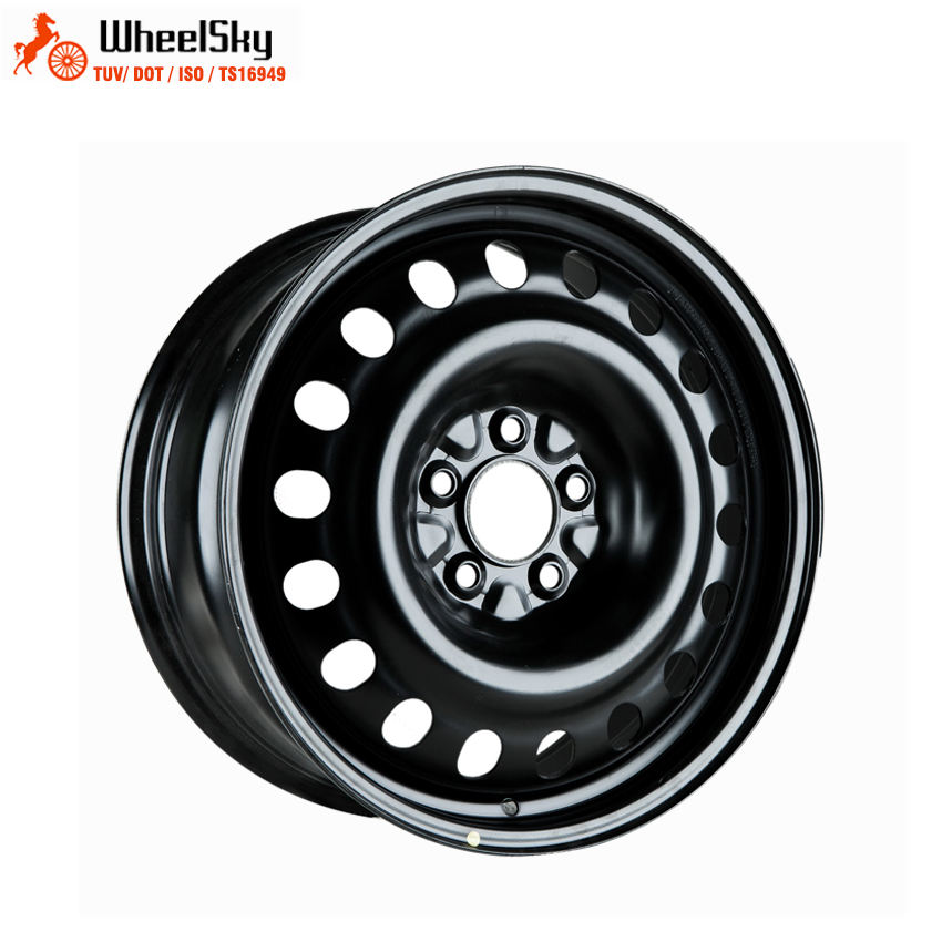 Wheelsky 785701 Good Run-out 17x7.0 PCD 5X1143 black surface 17 inch passenger car steel rim