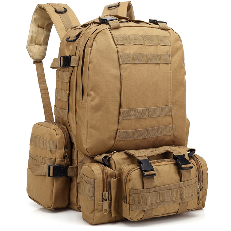 3-IN-1 55L Large Army Military Waterproof Tactical Molle Gear Bag BackpackためOutdoor Hiking