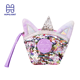 Double Color Sequin Coin Bag Unicorn Small Wallet New Cartoon Ziplok Cute Lovely Purse Mini Storage Change Sequinl Girl