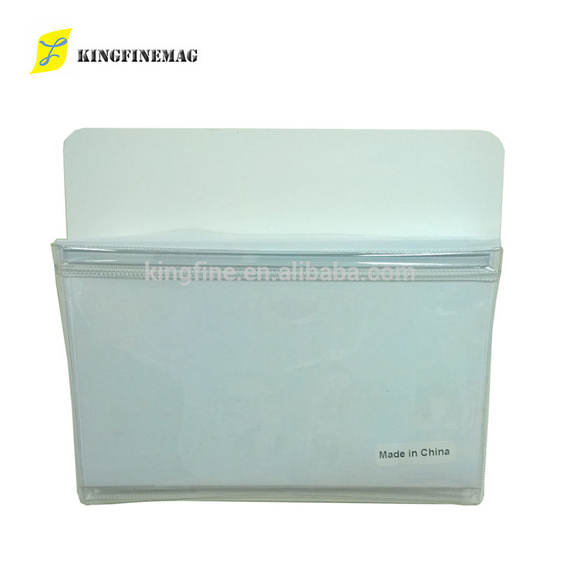 white sublimation magnetic sheet backed with clear plastic fridge magnetic pocket sticker