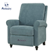 Chester Hill Push Back Recliner Chair in Aqua Blue Chenille