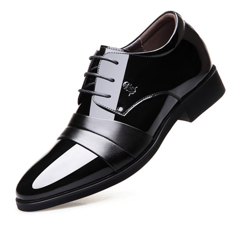 Fashionable Increase leather point material get marriage formal dress shoes pakistan