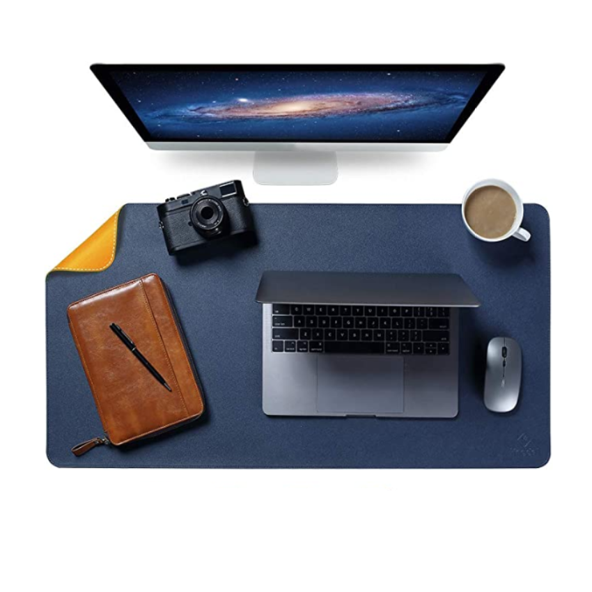 Dual Side Office Desk Pad Waterproof Desk Blotter Protector Leather Large Desk Writing Mat Mouse Pad