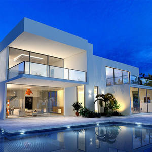 light steel villa steel structure house prefabricated luxury villa house prefabricated home