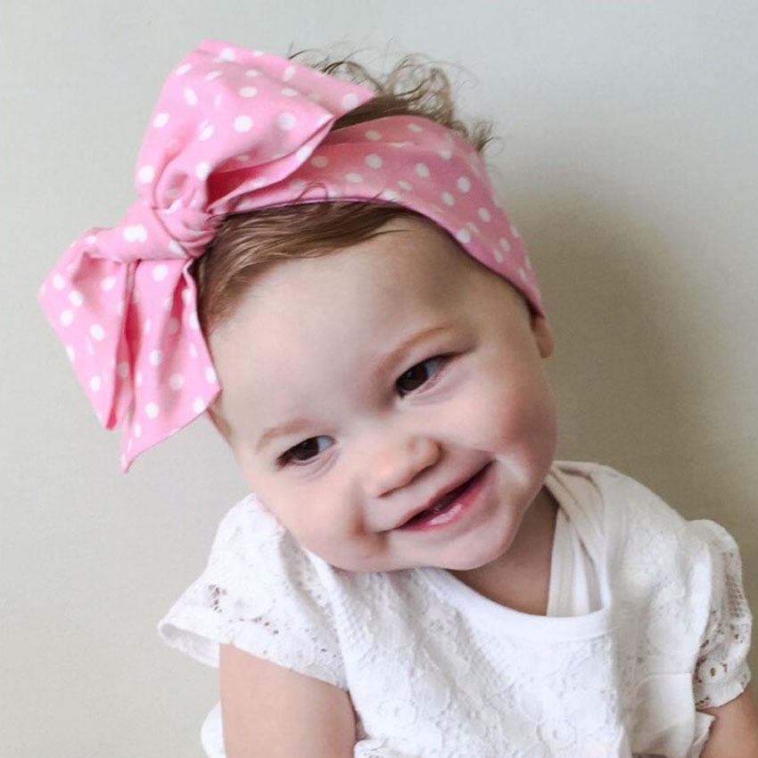 Bow Tie Back Fashion Plain Bow Tie Headband High Quality Flower Kids Baby Hair Accessory
