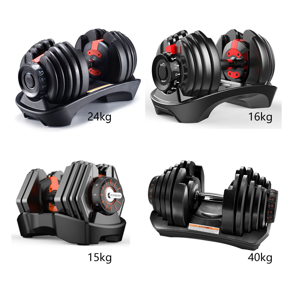 5 To 90lb Iron Adjustable Dumbbell Set 40Kg 24Kg Gym Fitness Dumbbells Weights 24 40 Kg 552 1090 Home Weight Equipment For Sale