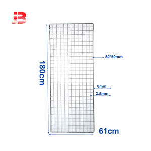 Storefixture multi-function metal wire Mesh Gridwall Panel For Retail Display