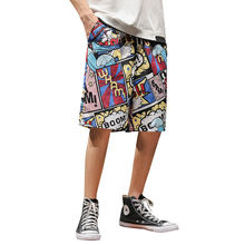 2020 wholesale summer Japanese prints casual beach short pants for man