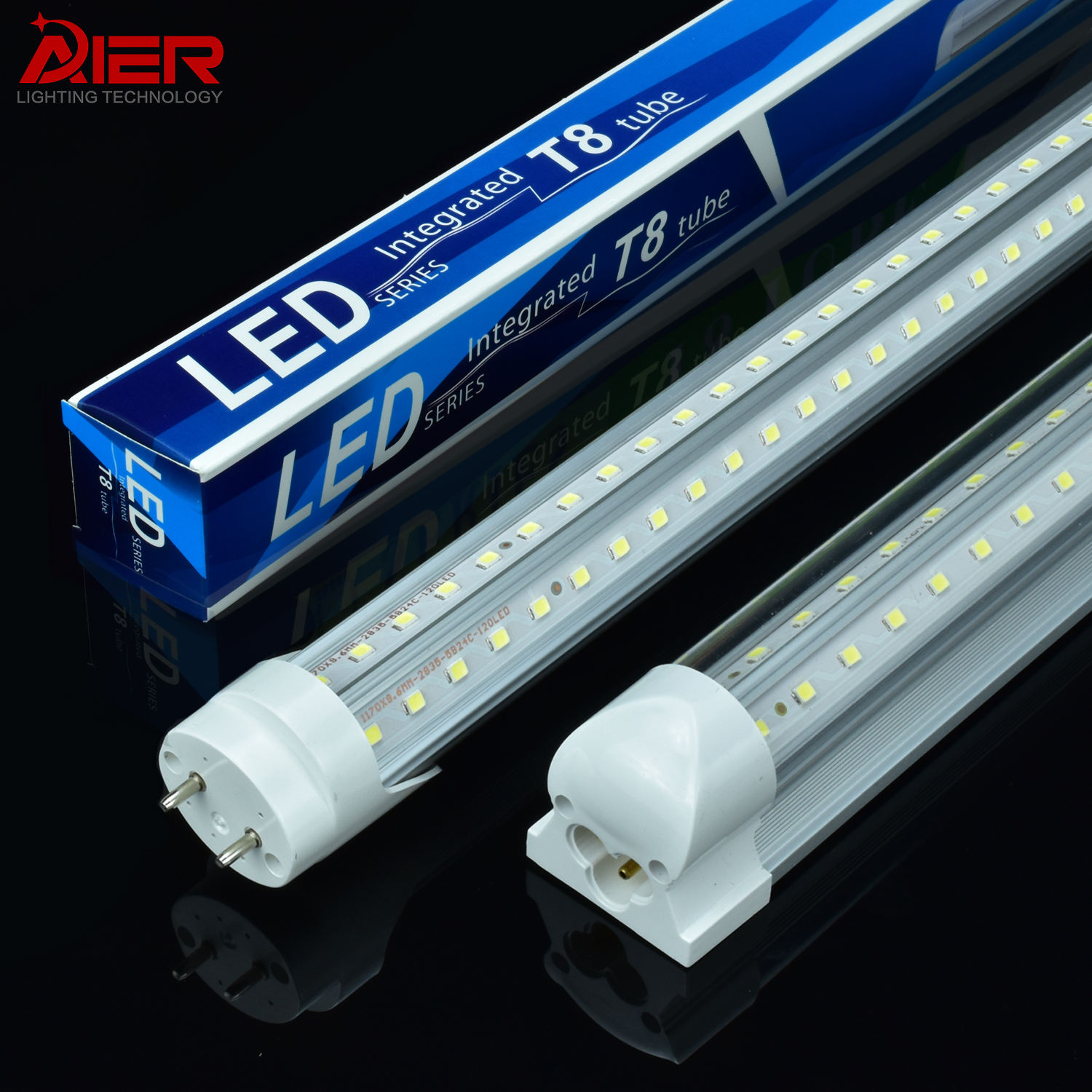 Super Bright OEM&ODM Indoor Lighting V Shaped Aluminum Shop Lights 4FT 8FT Integrated T8 Led Tube Light