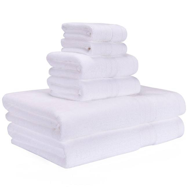 wholesale 100% cotton cheap Thickened towel 6pcs as 1set with promotion Luxurious hand towel Hotel Towel bathroom accessories