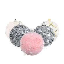 Christmas bubble ball Christmas tree ornament pendant Flocking plaster decoration ball ornaments
