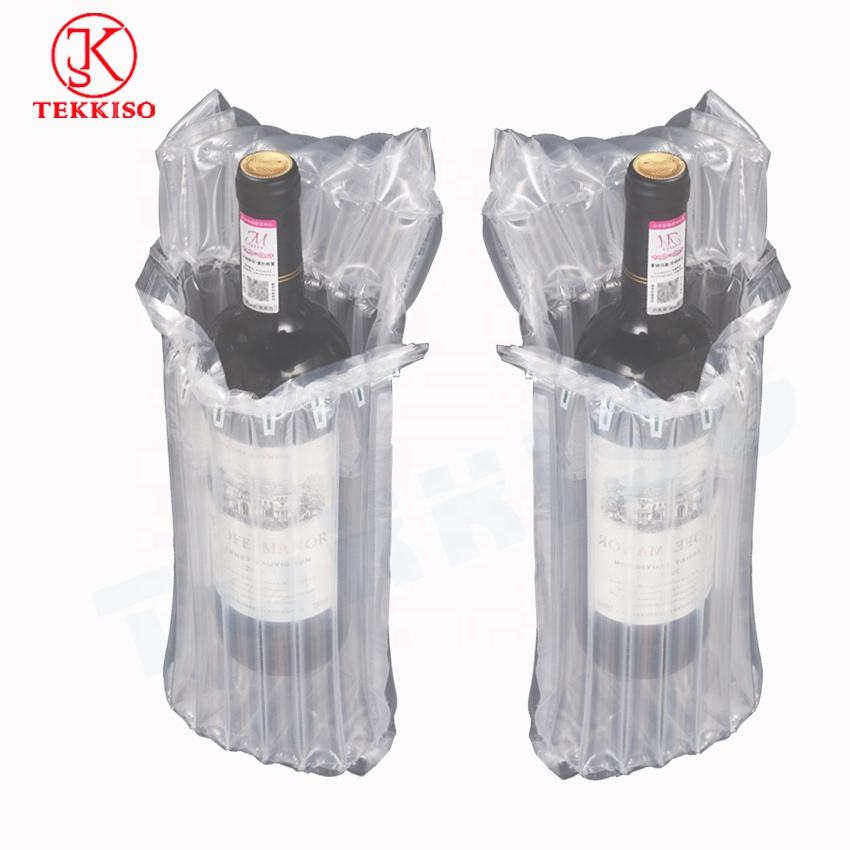 Air column bag protective packaging inflatable packaging bubble bag for red wine bottles