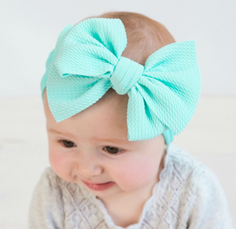 Many colors Big Bow headwrap Textured Fabric Baby Bows Headband