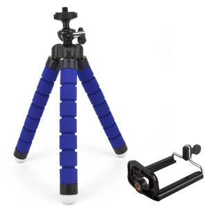 Mini Tripé flexível Polvo Esponja Estande Selfie Suporte para Go Pro Camera Digital Webcam Azul da Cor Do Telefone Móvel