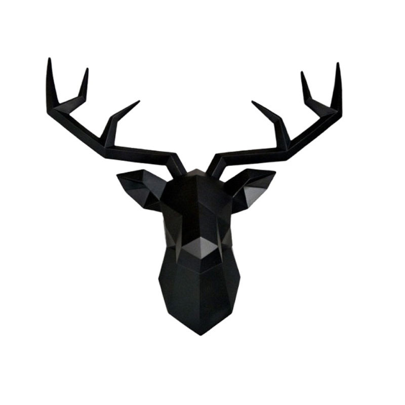 Hot sale modern hanging decoration ornaments resin famous deer head sculpture wall decoration