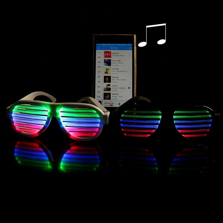 Christmas Party Supplies USB Rechargeable Sound Activated Led Glow Light Glasses