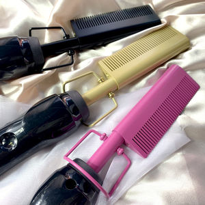 Bling Afro Hot Electric Comb Hair Comb Hair Brush,500 degrees Metal Flat Iron Hair Straightener Hot Electric Comb