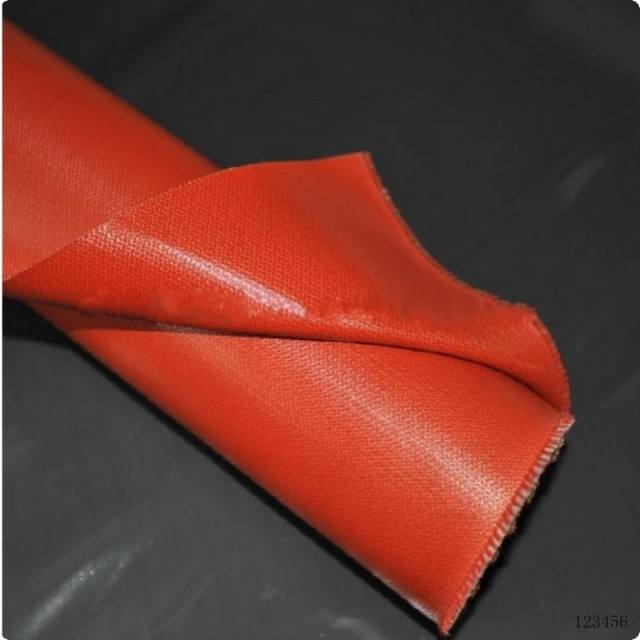 High Temperature Thermal Insulation Fire Proof Silicone Coated Glass Fiber Cloth