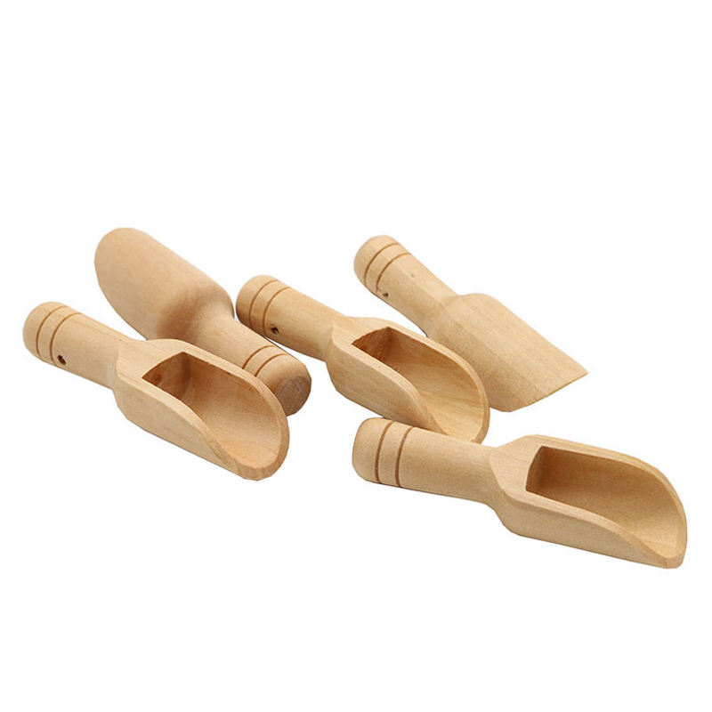 Hot Deal [ Bamboo Spoon ] Cooking Bamboo Spoons Wholesale Small Short Bamboo Wood Candy Buffet Spoon Cooking Measuring Mini Flat Wooden Scoops For Bath Salts