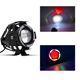 3000LM Motorcycle Driving Fog Spot Bulb Light 125W CREE U7 LED Headlight with Motorbike Bicycle Bike Cars Trucks Boat