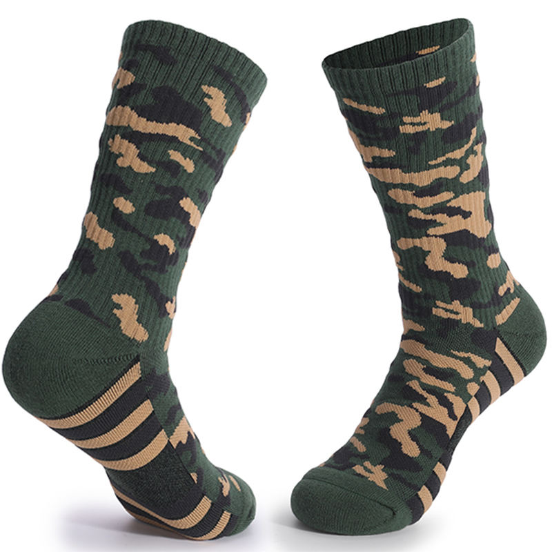 Thick Cushion Combed Cotton Colorful Athletic Sock Chaussette De Army Green Rugby Camouflage Men Softball Baseball Socks