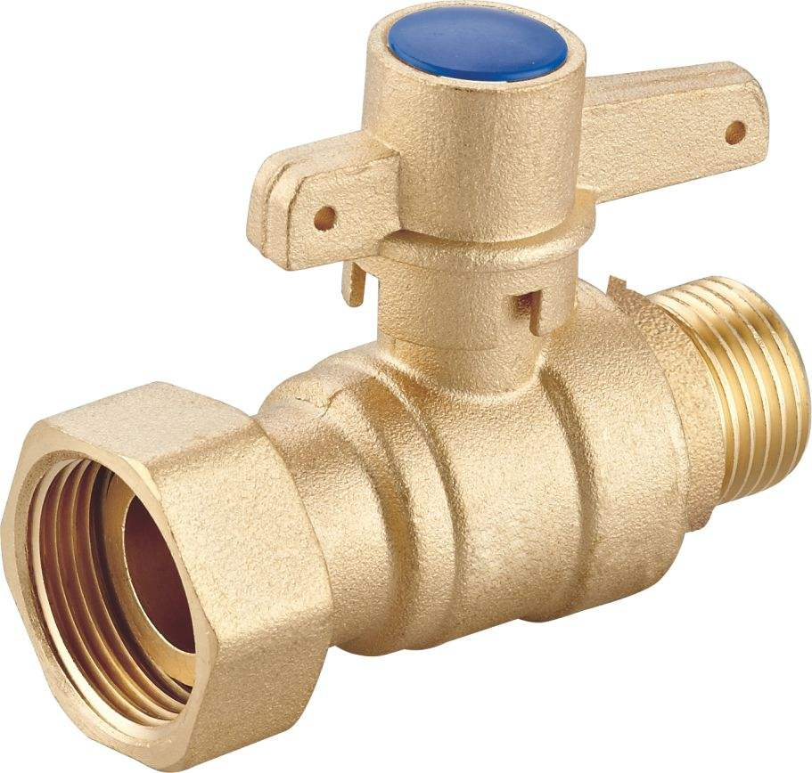 Brass water meter valve with brass handle from Yuhuan Taizhou ART NO.10490