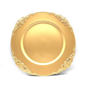 Manufacturer wholesale gold/white ordinary crystal plate made in China