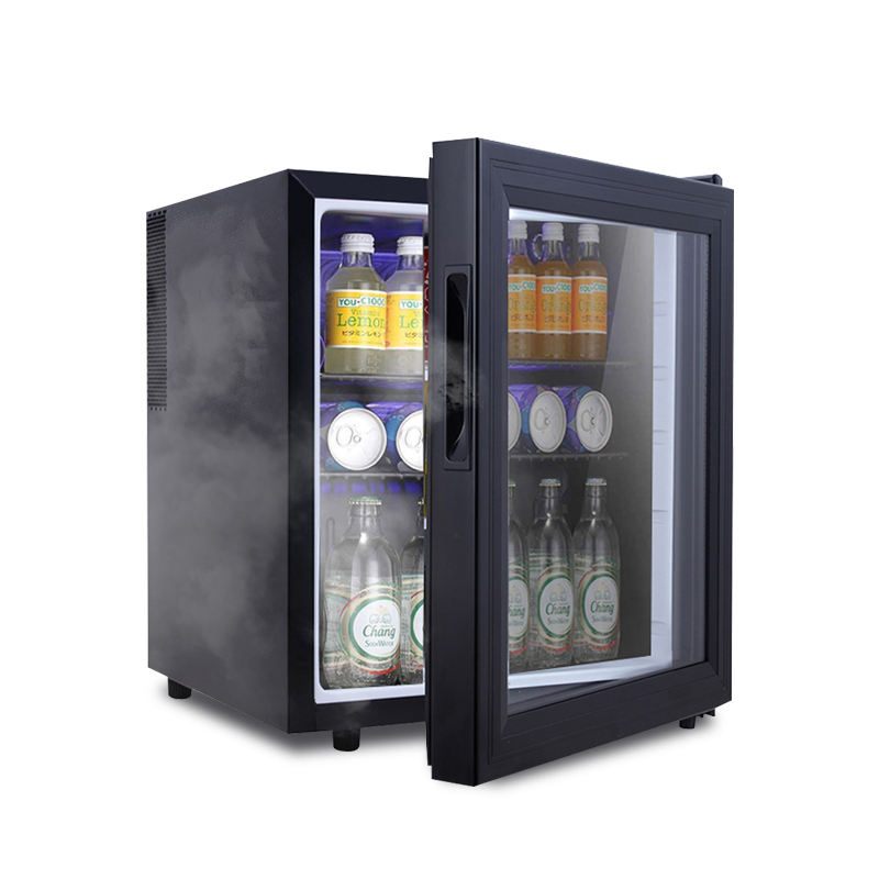 Thermoelectric 42L mini fridge 60 Can Low noise mini bar Glass Door mini Refrigerator
