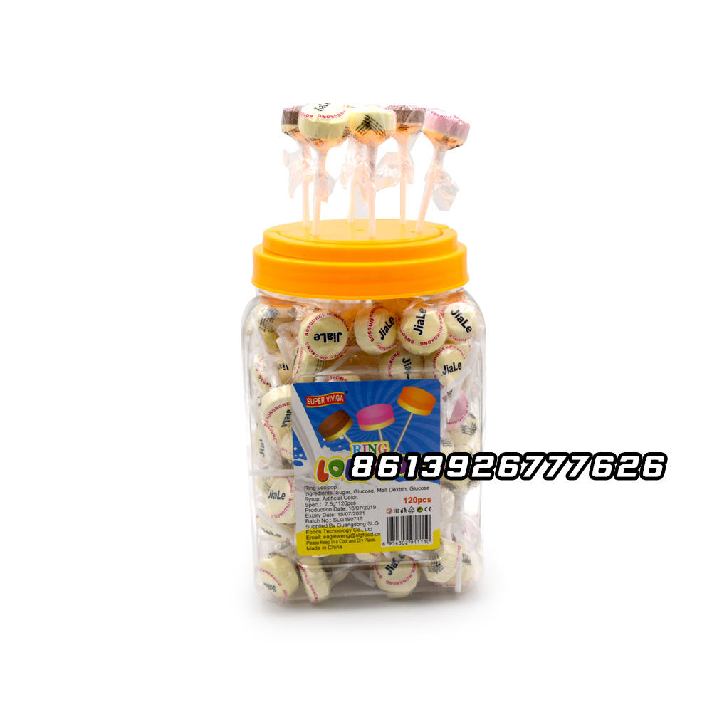 Sweet colorful ring lollipop candy manufacturer
