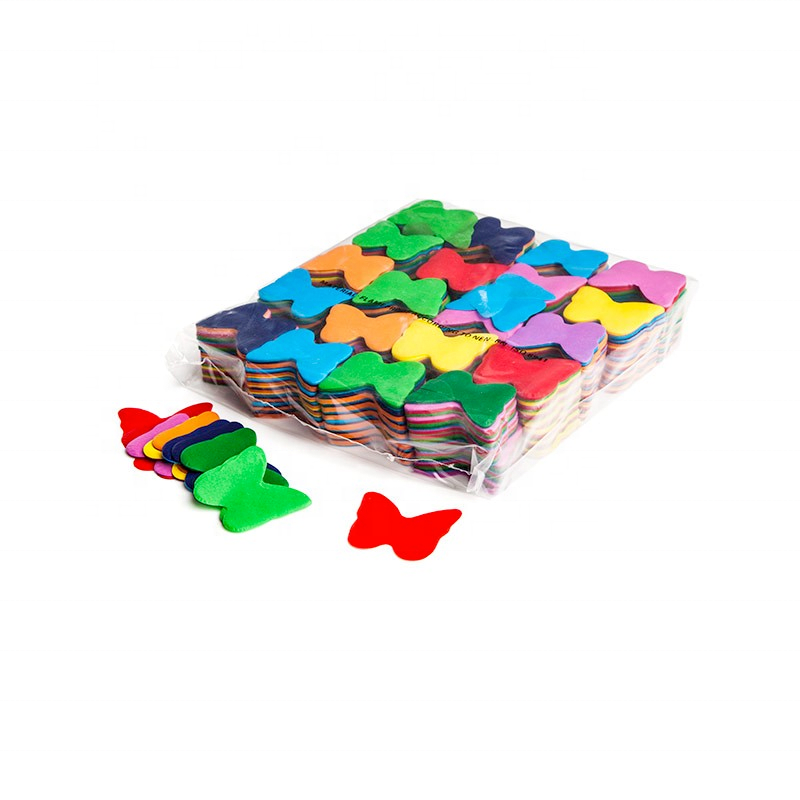 biodegradable color Tissue paper confetti Butterflies For Wedding Tumbler Throwing Serpentine Hand Throw Party Supply decoration