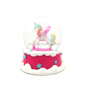 Resin Custom Made Unicorn Snow Globe Manufacturers