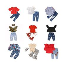 Bulk wholesale baby girls clothing set fashion kid clothing hot sale