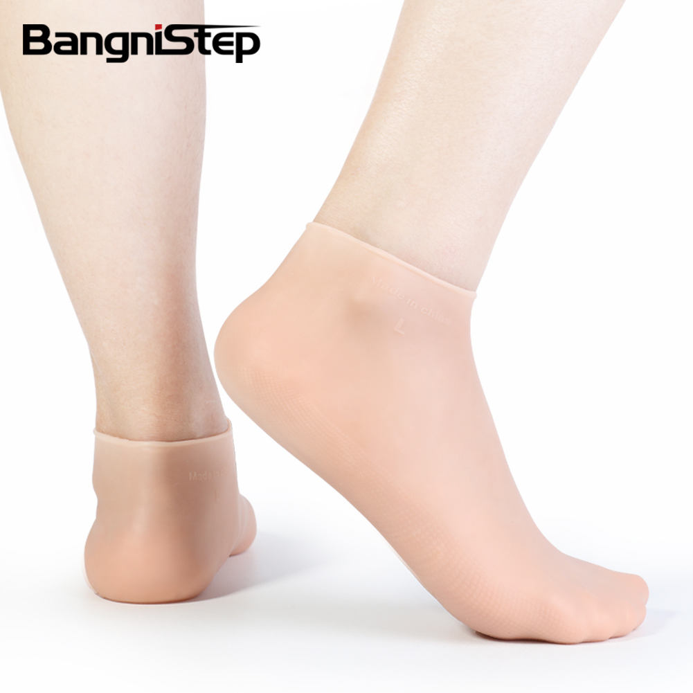 Bangnistep 2020 Factory Direct Sale Exfoliating Moisturizing Silicone Socks For Foot Skin Care