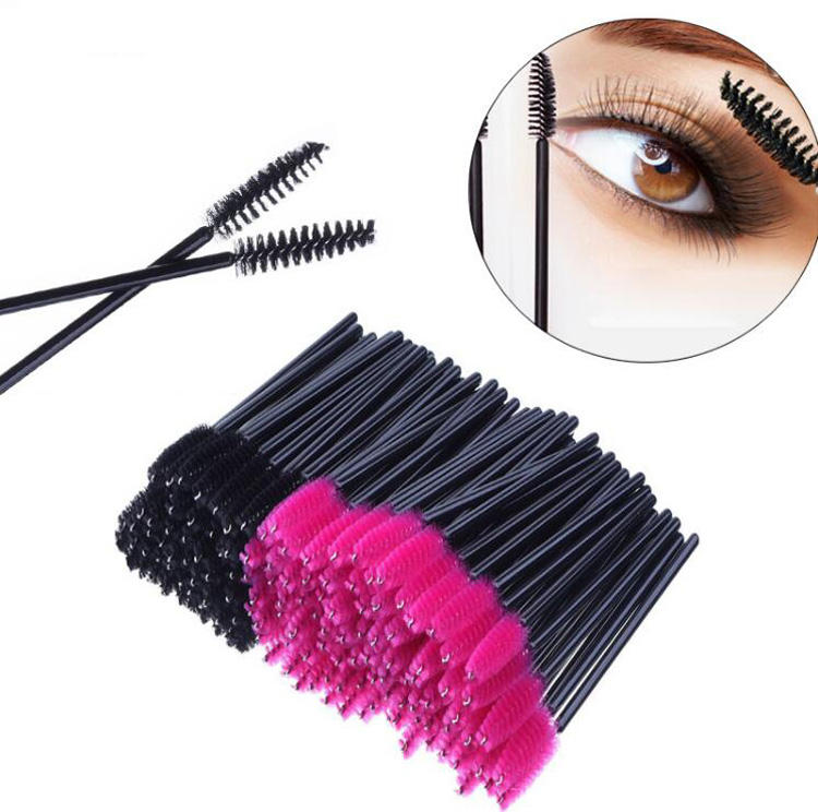 Hottest Eye Disposable Eyelash Extension Mascara Wands Pink Lash Brush