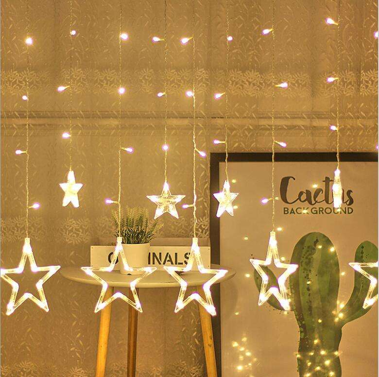 Amazon Huis Gordijn Led Star Diwali String Licht Bal Lamp Indoor Home Decor