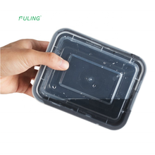 eco friendly restaurant  rectangular  pp  microwave disposable takeaway  black plastic food containers
