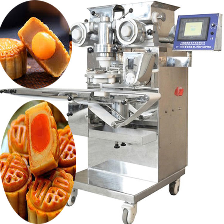 BNT-208 New design automatic encrusting egg yolk maamoul mooncake making machine