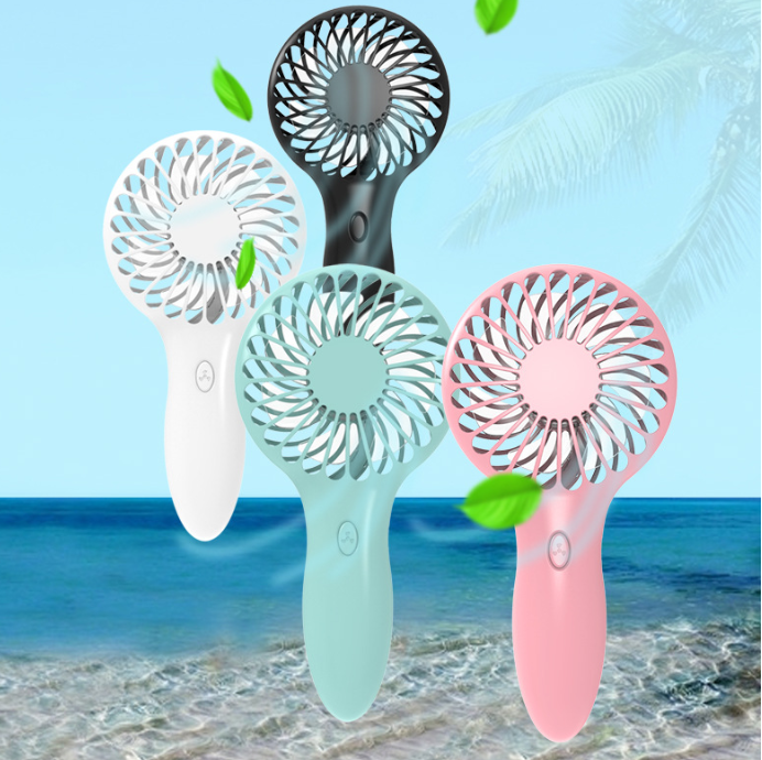 2020 New Design Portable Handheld Cooling Mist Fan Battery Operated USB mini portable fan
