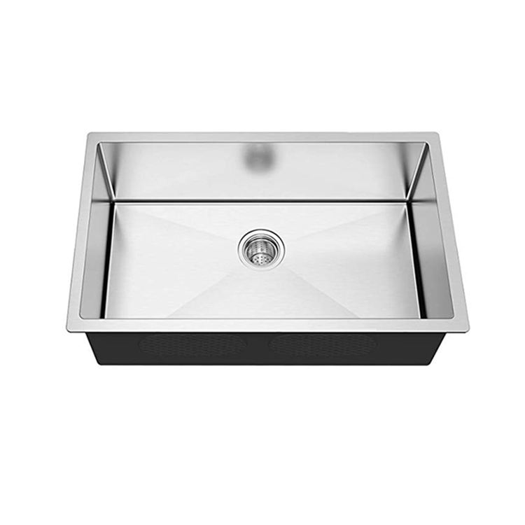 China suppliers 16 Gauge cupc luxury undermount single bowl stainless steel 304 kitchen sinks with best price hand made sinks