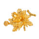 00132 xuping manufacturer flower shaped brooch, unique 24k gold plated brooches