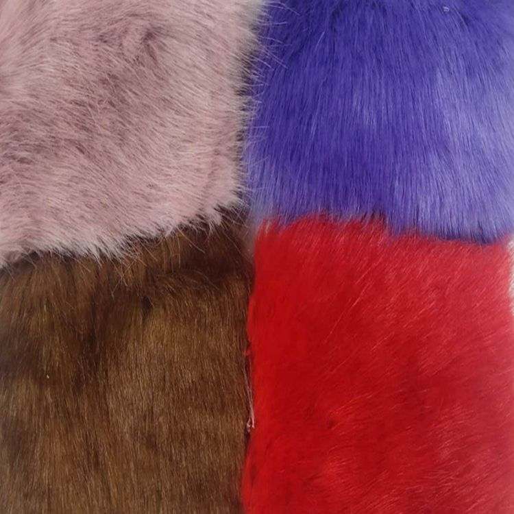 wholesale high quality faux fur fabric stock fabric lot