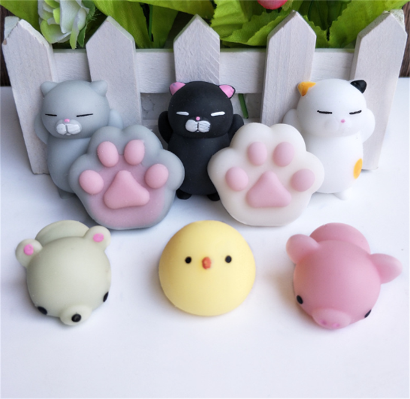 Pink Cute Cartoon Animal Mini Free Stress Balls