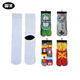 wholesale Custom 3D sublimated digital photo dye blank polyester printed socks sox crew sublimation socks stock lot