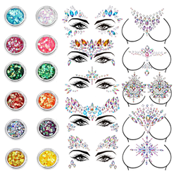 2020 Body decoration face gems mermaid jewels festival/stick on jewels